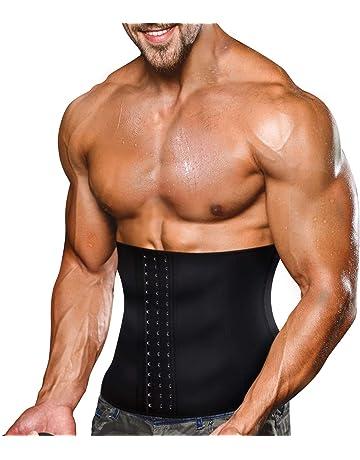 d390e770c55c Bingrong Faja Reductora Adelgazante Hombres Faja Reductora Cinturón Lumbar  Abdomen Ajustable para Deporte Fitness Efecto Sauna