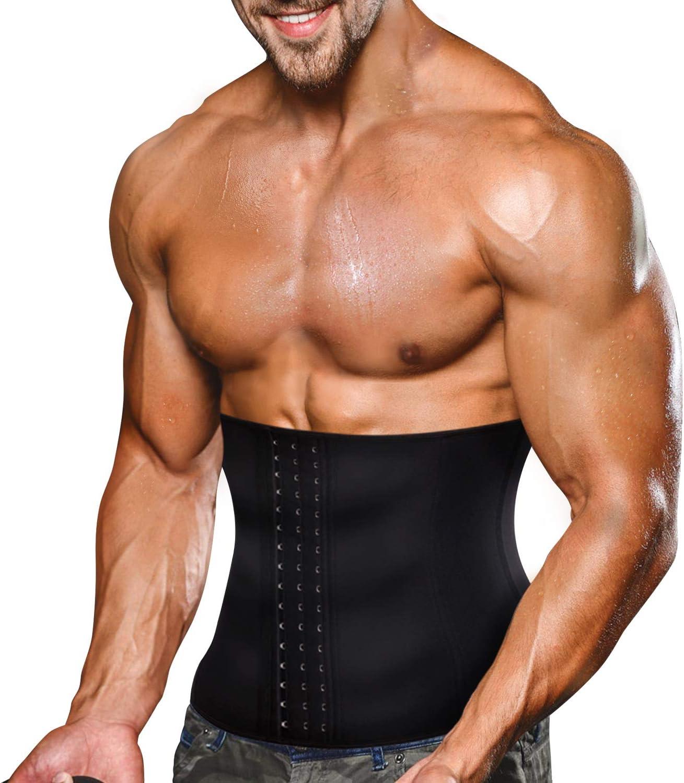 Bingrong Faja Reductora Adelgazante Hombres Faja Reductora Cintur/ón Lumbar Abdomen Ajustable para Deporte Fitness Efecto Sauna para la Quema de Grasa