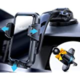 Car Phone Holder Mount, Tollefe [Never Block The View] Universal Adjustable Strong Suction Cell Phone Mount for Car Dashboard