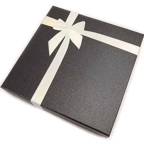 Estuche collar Cadeauplateado negro.: Amazon.es: Joyería