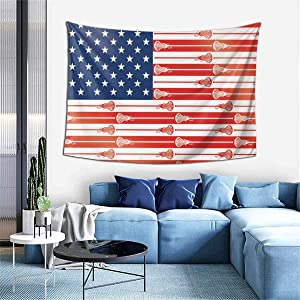 "NYF Boutique Tapestry, Hippie Tapestries Bedroom Living Room Dorm Home Decor Art Wall Hanging - American USA Lacrosse Sticks Flag, 60"" x 40"""