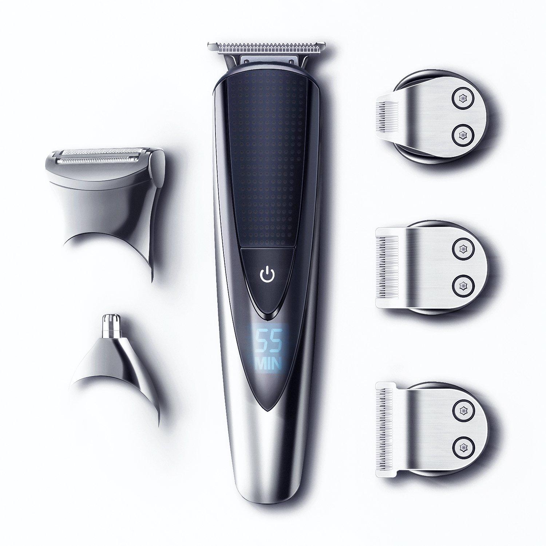 Hatteker Mens Beard Trimmer Kit All-in-One Hair Trimmer for Nose & Ear, Cordless Mustache Trimmer Body Grooming Kit for Men Rechargeable USB Ltd.
