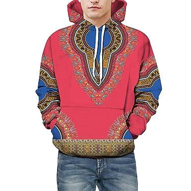 6b725293e1cc8 Vetement Ado Sweat Shirt Vtops Amoureux Automne Hiver Africain 3D  Impression à Manches Longues Sweat à Capuche Dashiki TopSweat-Shirt Homme  Grande Taille ...