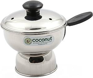 coconut Stainless Steel Puttu Cup Chirratu Maker Pressure Cooker Attachment (200ml)