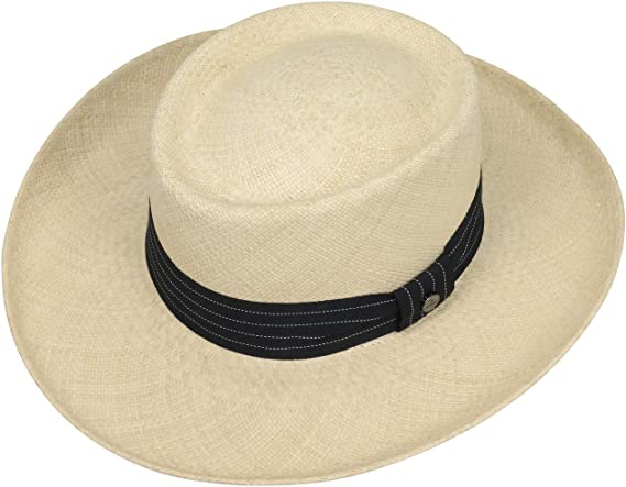 Band Spring-Summer Lierys Gambler Panama Hat Men Made in Ecuador Men/´s Beach with Grosgrain Band