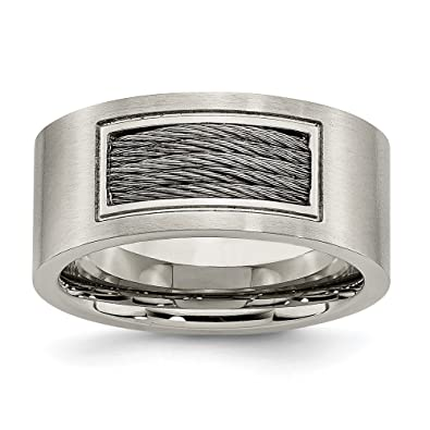 Edelstahl-Draht-Ring-Größe: Q 1/2-JewelryWeb: Amazon.de: Schmuck