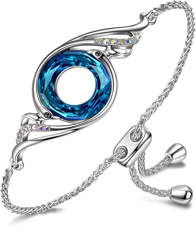 Kate Lynn - Nirvana de Fénix - Pulsera, Diseño Creativo Simbolizando la Suerte y la Renovación, Cristales de Swarovski, Cadena Retráctil, Elegante Caja de Regalo