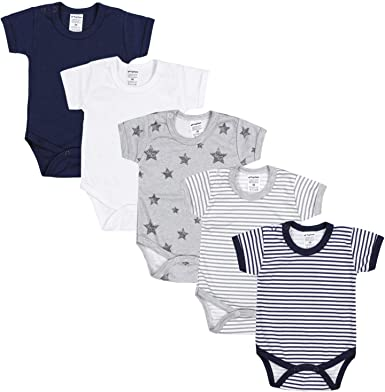 Pack of 5 TupTam Baby Short Sleeve Wrap Bodysuits