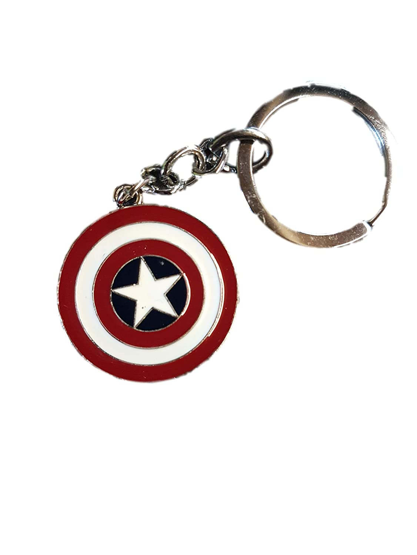 Fat-catz-copy-catz Red Captain America shield Marvel Superhero Enamel metal keyring