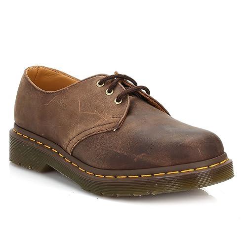 Dr. Martens Dr Martens 1461 - Mocasines de cuero para hombre, color marrón, talla 41.5: Amazon.es: Zapatos y complementos
