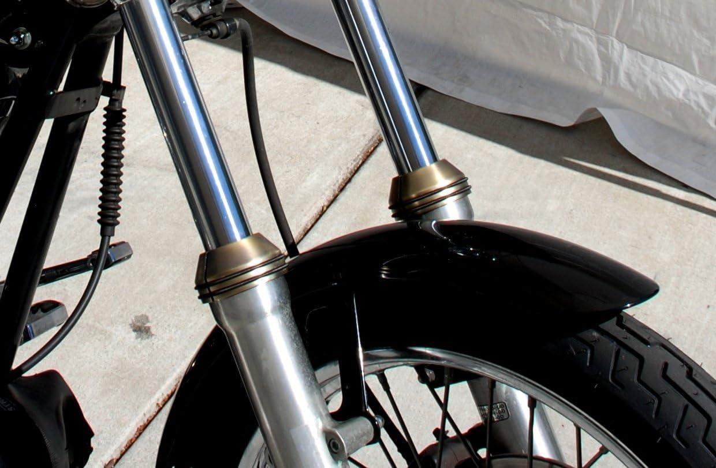 Chopper. Mr Luckys EZ-On Fork Boot Covers Bobber fit 41mm Harley FXWG//ST front ends Chrome Custom