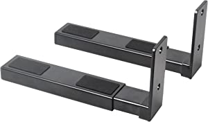Pyle Speaker Wall Mount, Pair of Speaker Stands, Sound Bar Speaker, Large or Small Speakers, Center Channel Speaker Wall Mount, Adjustable & Extendable Length, 110 Lbs Capacity, Black (PSTNDW17)