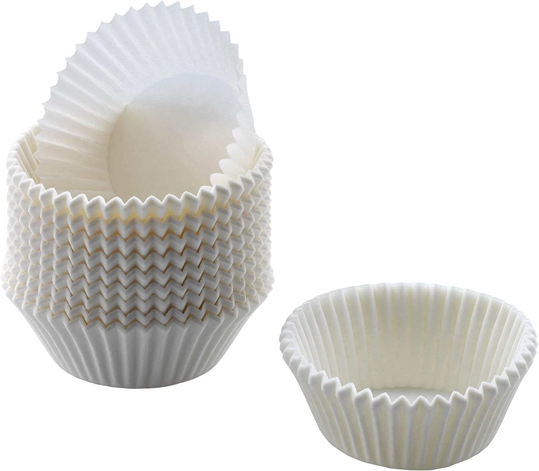 72x Förmchen Eddingtons Mittel Muffinförmchen Papierförmchen Weiß Schwarz Blumen