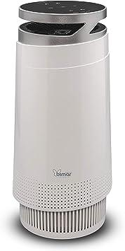 Bimar Purificador de Aire Wi-Fi PA98 con Filtro HEPA, Carbón Activado y Tela. El Purificador de Aire Elimina los Olores del Hogar u Oficina, Alergias, Polen, Humo. Compatible Alexa y Google Assistant: