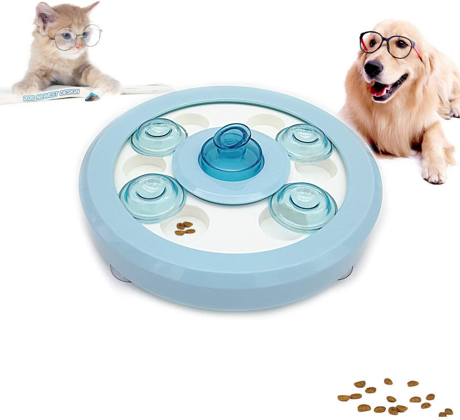 Dog Puzzle Toys Puppy Puzzle Game Toy for Beginner Treat Dispenser for Dogs Training Slow Feeder Interactive Dog Puzzles Food-Dispensing IQ Toys Cat Treat Dispenser Dog Treat Puzzle Games for Dogs