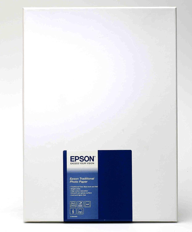Epson Traditional Photo Paper - Papel fotográfico: Epson: Amazon ...