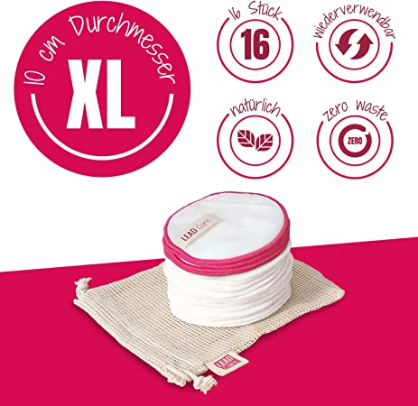12 tampons souples 4 tampons de nettoyage 1 lisseur de peau gratuit Lot de 16 tampons de d/émaquillants XL lavables voir la facultatif . Filet de lavage Extra larges