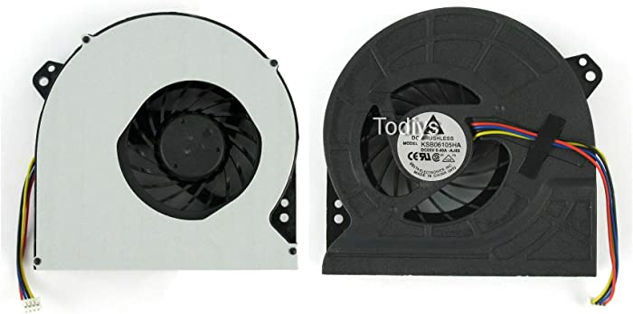 Todiys CPU Cooling Fan for Asus G74 G74S G74SW G74SX G74SX-91 G74J G74JH Series G74S-XR1 G74SW-A1 G74SW-3DE G74SX-A1 G74SX-BBK7 G74SX-BBK11 G74SX-DH71 G74SX-TH71 G74SX-3DE G74JH-A1 G74JH-A2 G74SX-1ATY