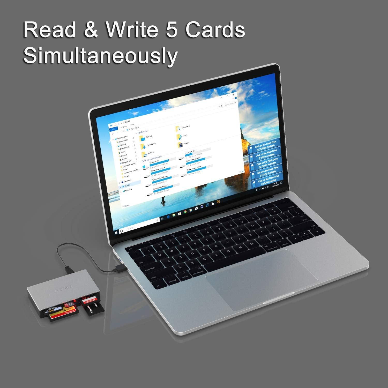 SD CF Camera Flash Memory Cards For Windows MD Linux INDMEM SmartMedia Card Reader Writer All-in-1 USB Universal Multi Card Adapter Slim Hub Read Smart Media SDXC MS Pro Duo Mac SDHC UHS-I MMC xD