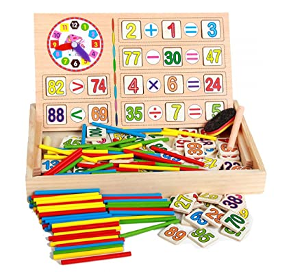 Toys & Hobbies Math Toys Baby Wooden Math Educational Toys Number Counting Sticks Toys Montessori Toys Children Math Teaching Wood Box Eduactional Toys