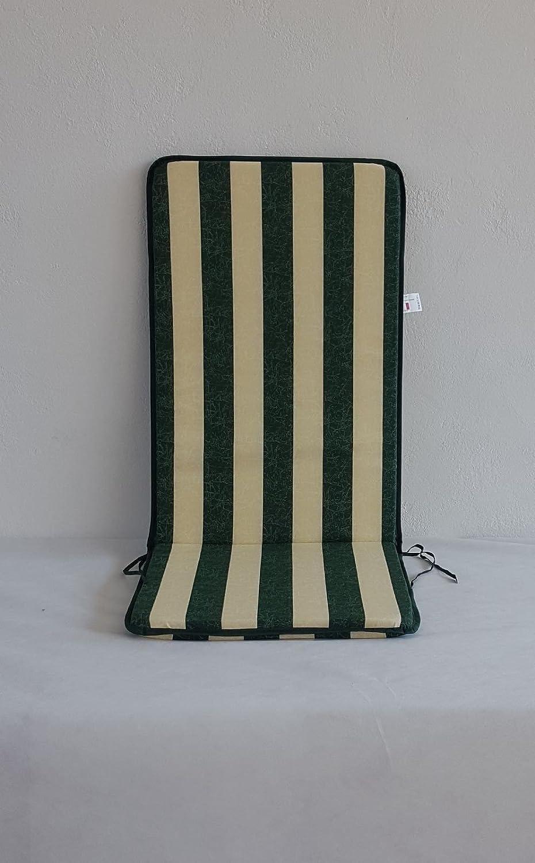 Par sedia-sdraio Cojines para sedia-sdraio Par de jardín col. Rigato verde 397407