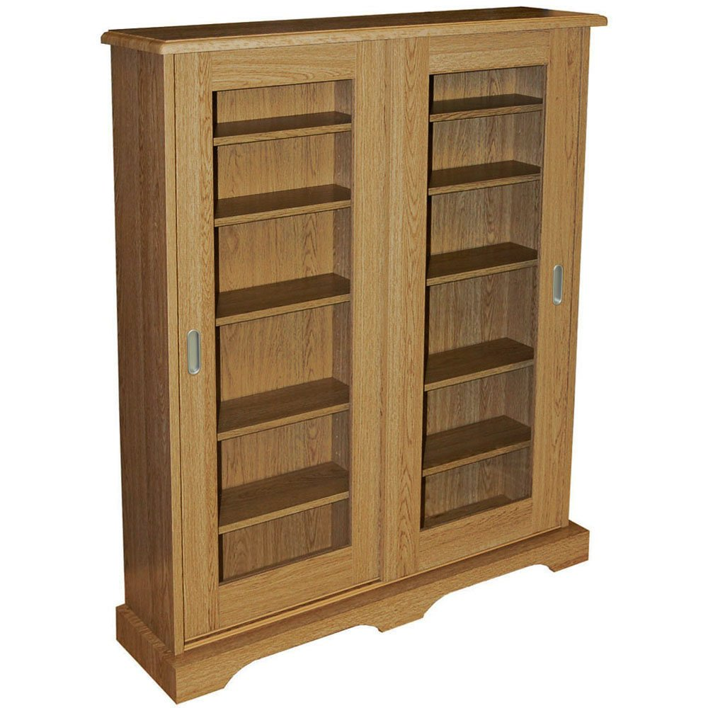 hampstead 432 cd or 216 dvd bluray media storage cabinet oak - Dvd Storage Cabinet
