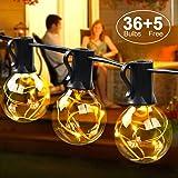 Weihnachtsbeleuchtung Aussen Ersatzbirnen.Lichterkette Garten 10m Glühbirne Lichterkette Außen G40 Led 3 W