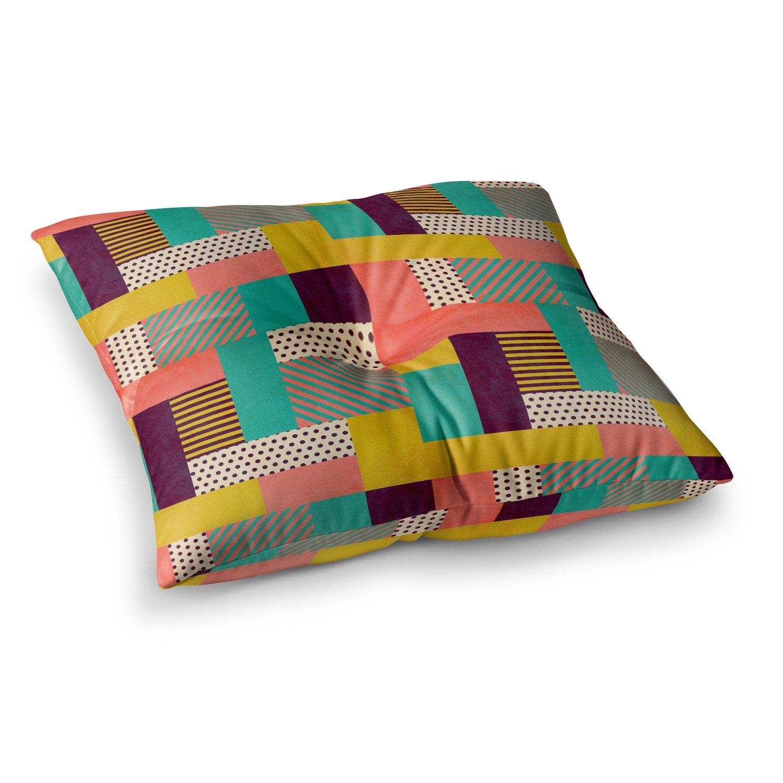 60 by 50 Kess InHouse Louise Machado Geometric Love Pattern Abstract Fleece Throw Blanket