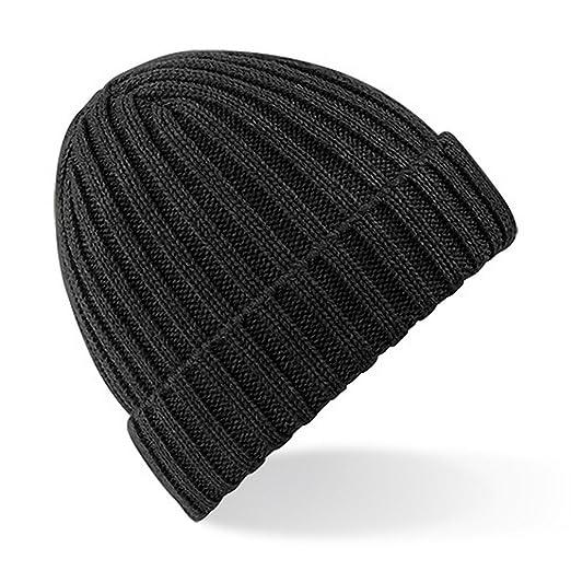 Amazon.com  Beechfield Unisex Chunky Ribbed Winter Beanie Hat (One ... fb6524daaaa1