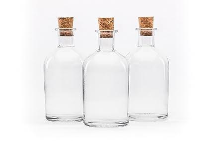 SLK - Juego de 24 botellas (cristal, 250 ml, con corchos ...