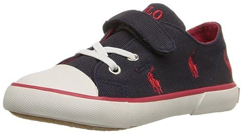 Polo Ralph Lauren - Zapatillas para niño Azul Marino y Rojo ...