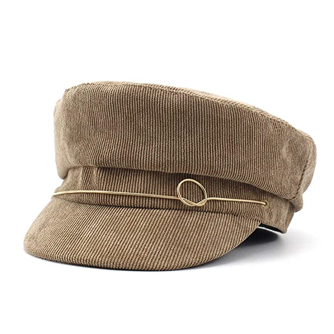 c011ade919d Army Hats Corduroy Military Caps Corduroy Vintage Female Flat Cap Designer  Baker Hat Fashion Visor Octagonal at Amazon Women s Clothing store