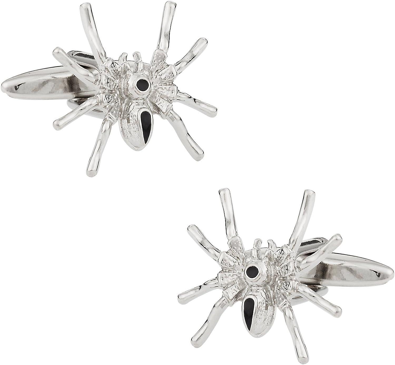 Cuff-Daddy Spider Silver Cufflinks with Presentation Box