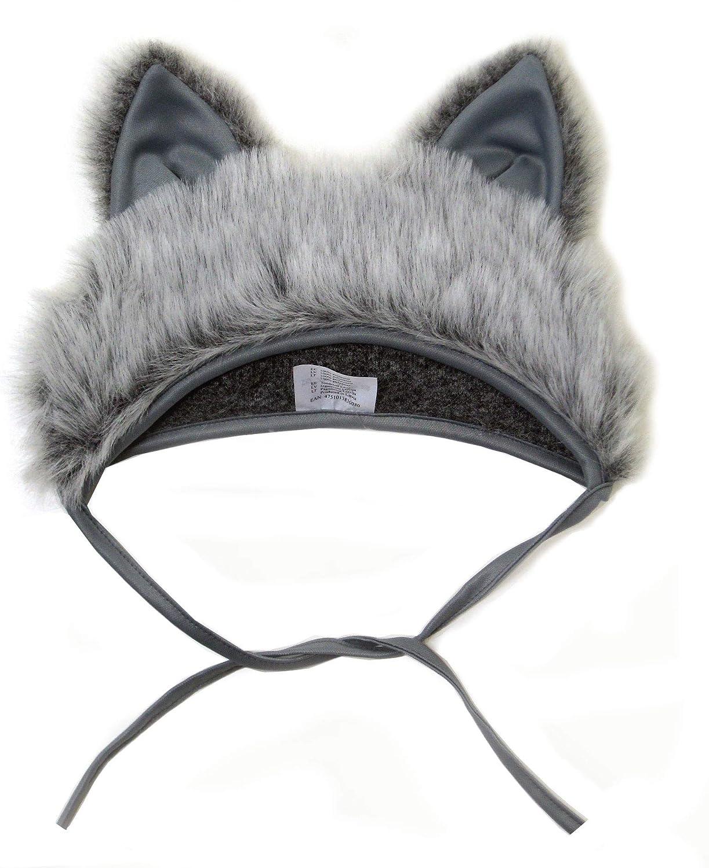 SIA COLLA-S D/éguisement de Loup Bonnet Chapeau avec Oreilles Carnaval Costume des Animaux pour les Enfants Gar/çons Filles F/ête Soir/ée Carnaval Taille S//M