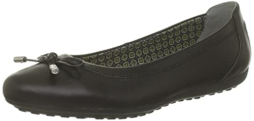 Geox Womens D Piuma Bal H Leather Ballet Flats Black 35 EU2.5 UK(