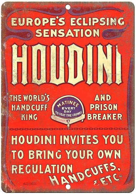 Houdini World Handcuff King Póster de Pared Metal Creativo ...