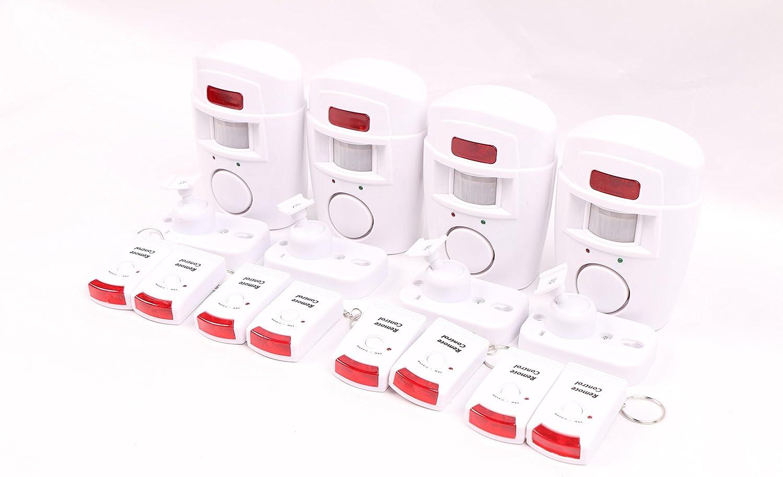 Remise WER maison Alarme sans fil /à capteur infrarouge passif /À deux t/él/écommandes garage