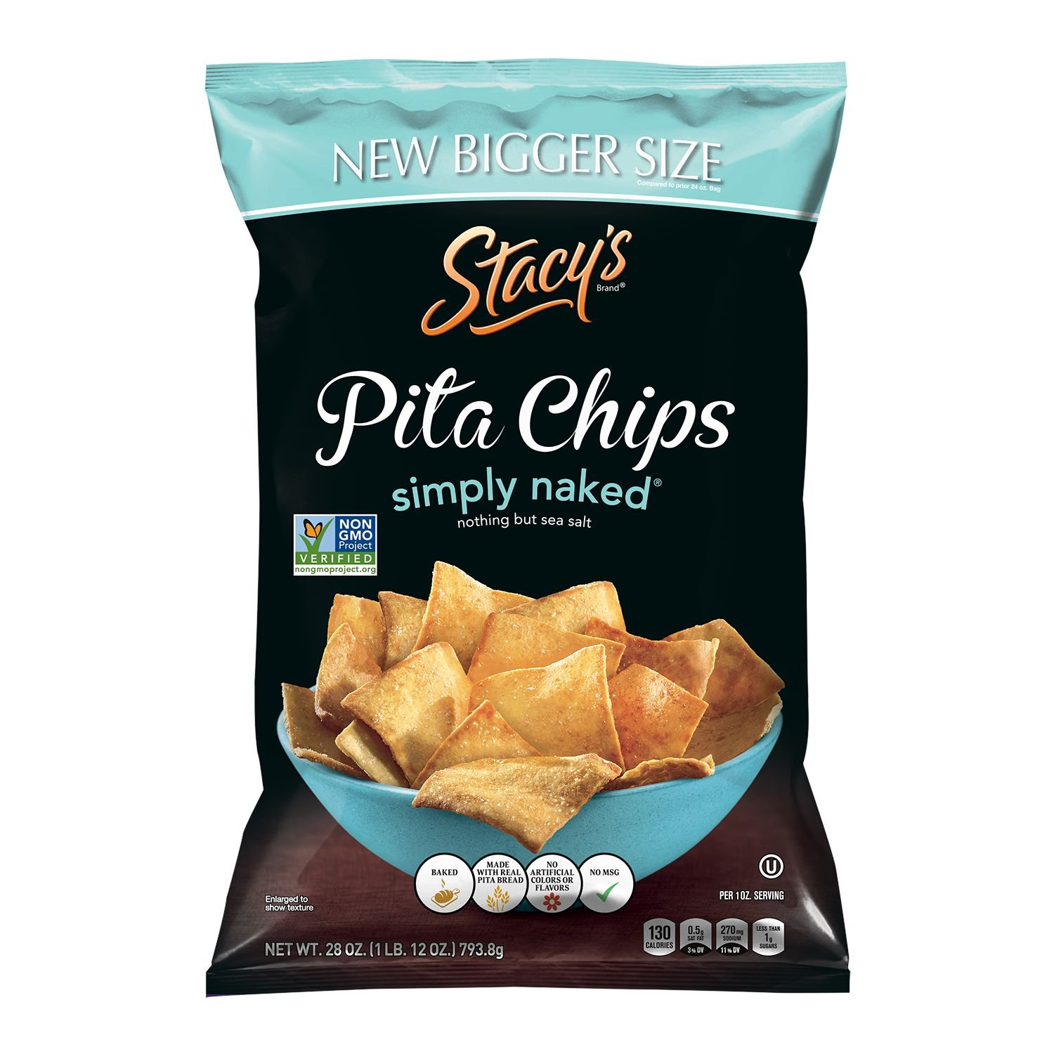 Stacy's Pita Chips Simply Naked (28 oz.) (pack of 2) by Stacy's