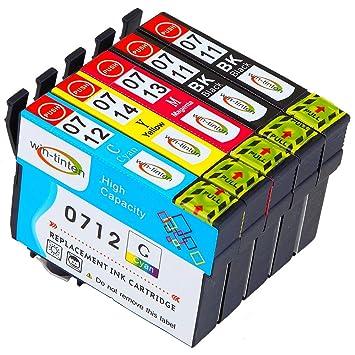 Win-TinTen 5 Paquete de reemplazo Epson T0711XL T0712 T0713 T0714 ...