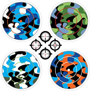 StikArt Shooting Targets Wall Decals for Indoor Practice with Nerf Guns (Camouflage Prints)