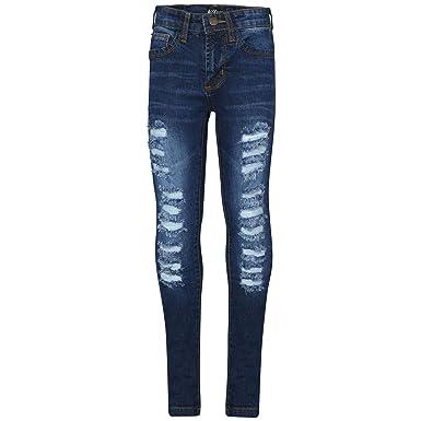 A2Z 4 Kids Kinder Mädchen Dünn Jeans Designer Denim Zerrissen Mode Dehnbar Jeggings Hosen Stilvoll Hose Alter 3 4 5 6 7 8 9 1
