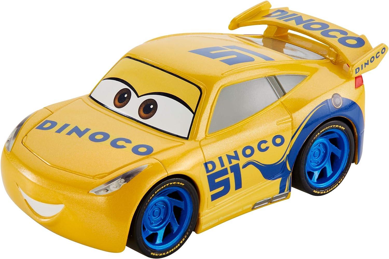 Disney Cars Vehículo Turbocarreras Dinoco Cruz Ramirez, Coches de Juguetes niños +3 años (Mattel FYX42)