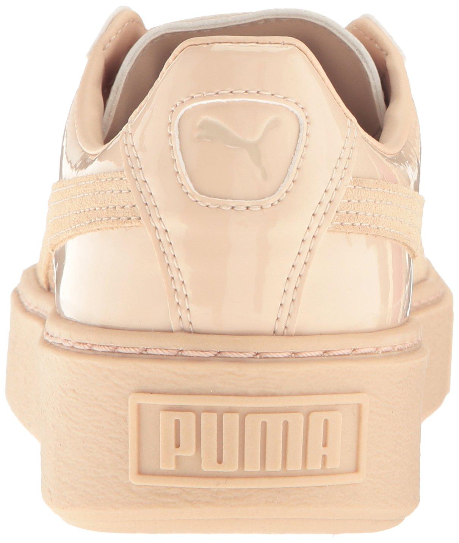 PUMA Women's Basket Platform Patent Fashion Sneaker B01LPWQREY 9 M US|Frappe-frappe