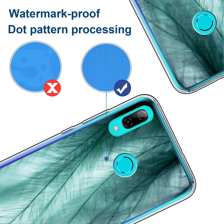 pooier Kompatibel Huawei P Smart 2019 H/ülle Crystal Clear Transparente Soft TPU Silikon Schutzh/ülle Leicht Ultra D/ünn M/ädchen Blumen Marmor Muster Handyh/ülle