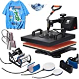 Homedex 15X15 Inch Heat Press 8 in 1 Heat Press Machine with Slide Out Drawer,Digital Multifunctional Swing Away Heat Press,H