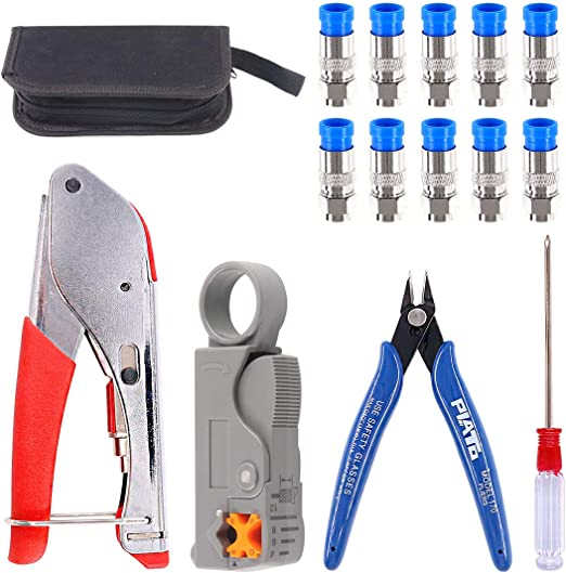 CATV Coaxial Cable Stripper Coax Wire Stripping Tool 2 Blades for RG6 RG59 RG11