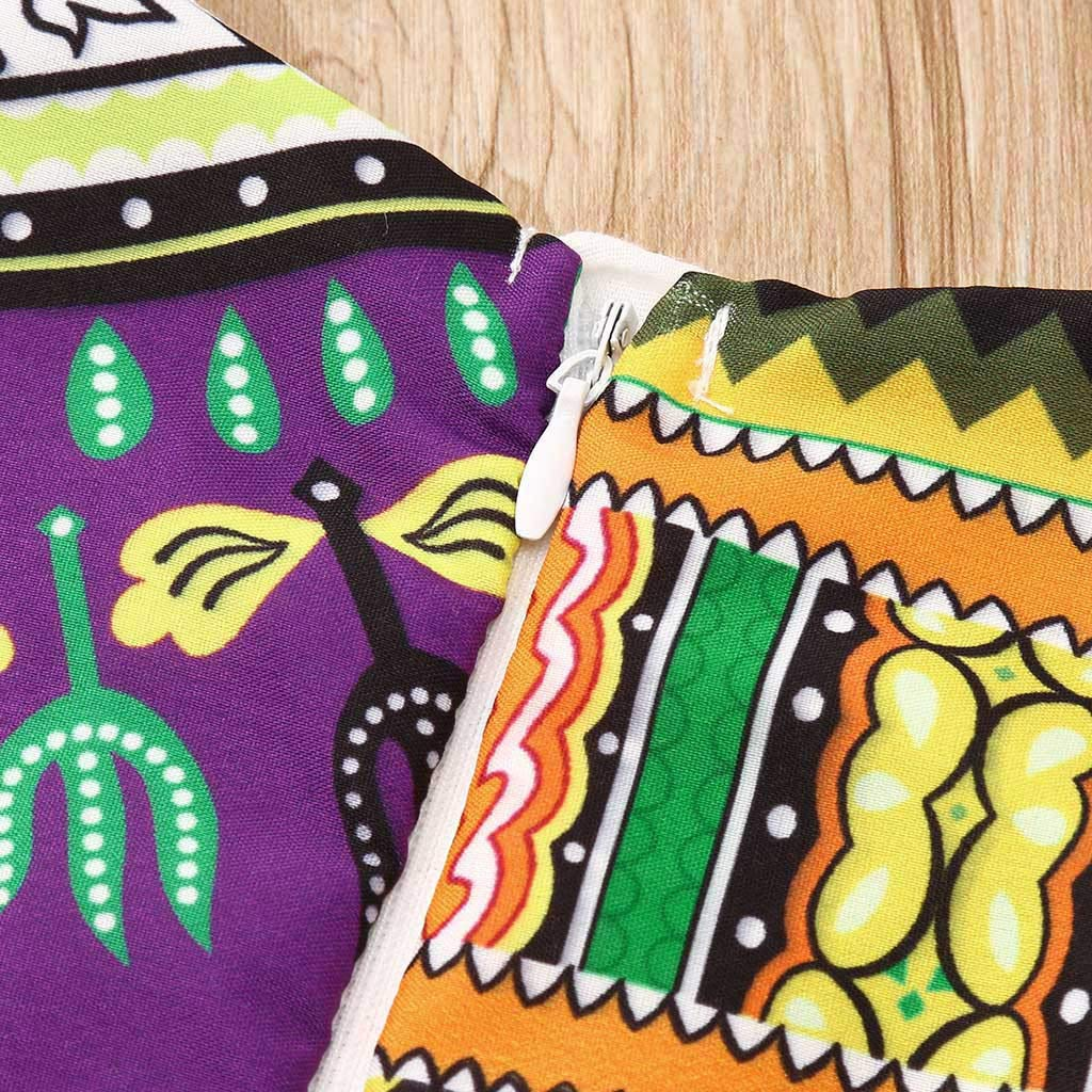2019 Hot Sale!Cuekondy Toddler Baby Girl Kids African Print Sleeveless Romper Jumpsuit+Headband Summer Clothes Outfit