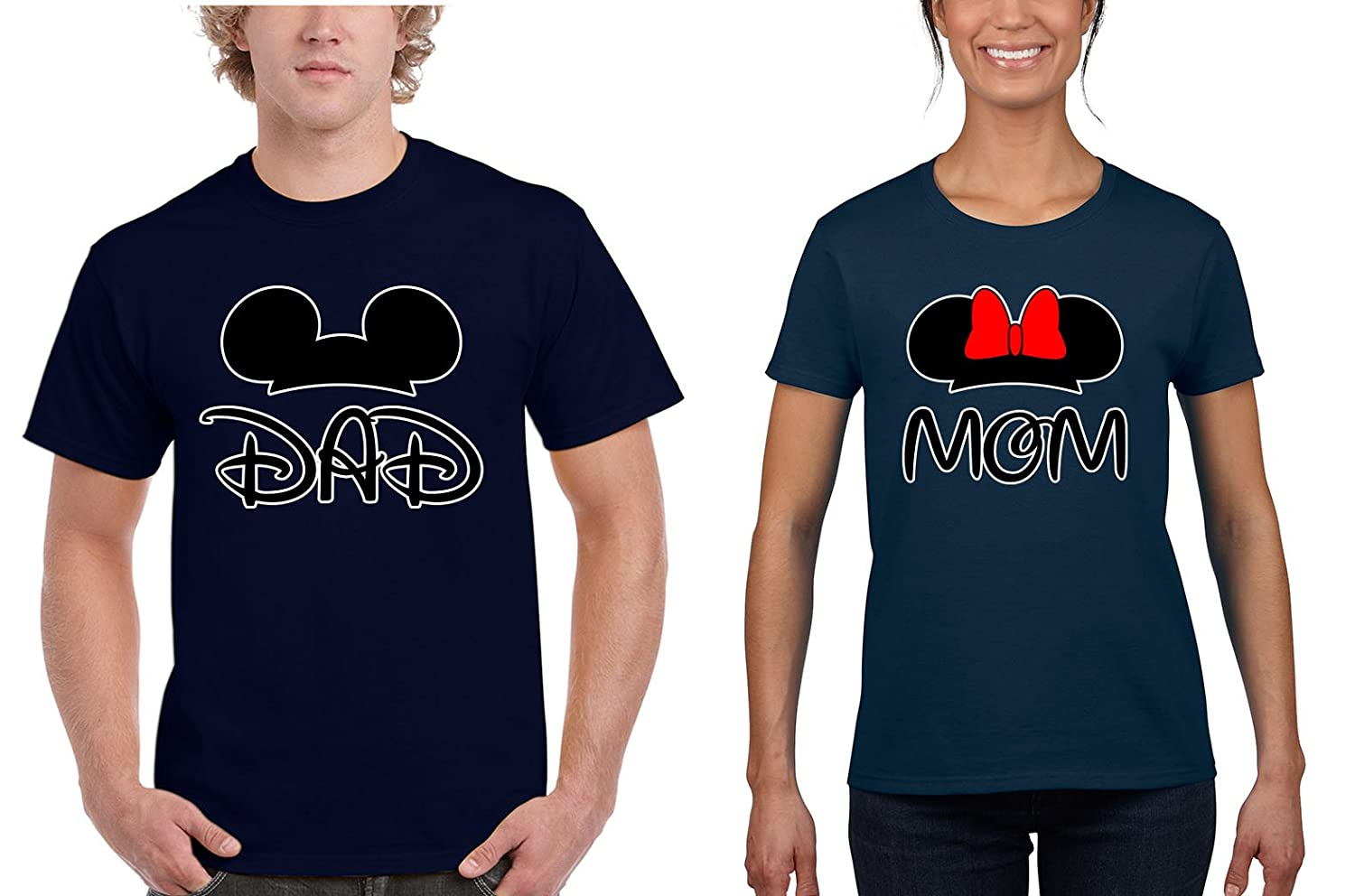d5668fbb5 Good Shoppers Mickey Dad/Minnie Mom Couples Matching T-Shirts | Amazon.com