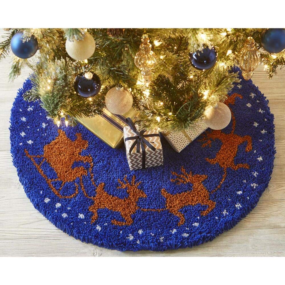 Herrschners/® to All A Good Night Tree Skirt Latch Hook Kit