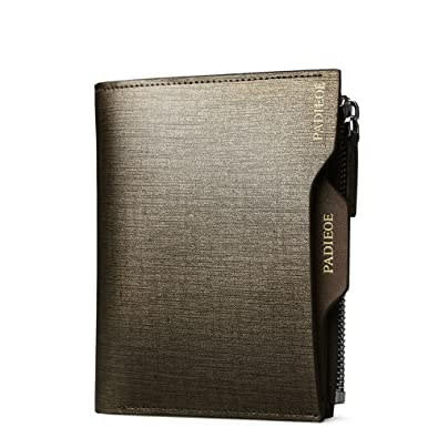 2a02e5f67b5b Amazon | Padieoe 長財布 二つ折り 財布 メンズ 本革 人気 ブランド メンズ小銭入れ 財布 革QB160626-2J 通販